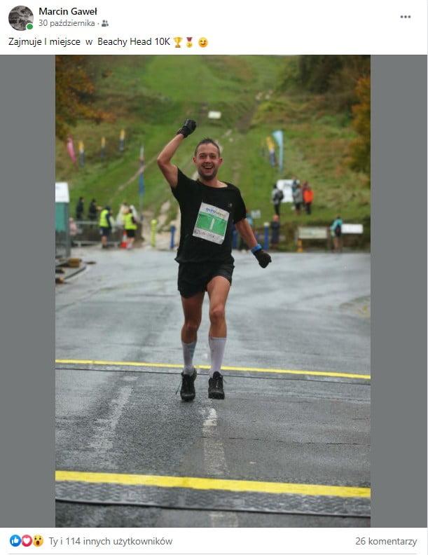 Trening mentalny - 1 miejsce Marcina w biegu na 10km Beachy Head