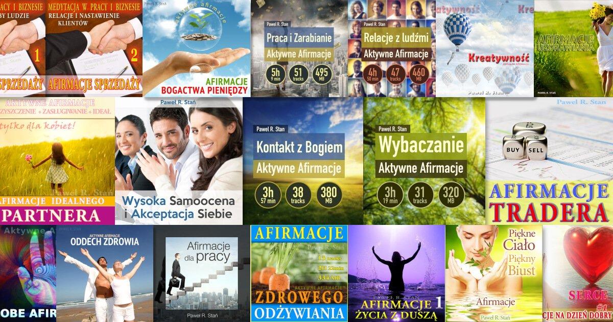 Afirmacje Mp3 dla miłości, pieniędzy, zdrowia, pracy, wybaczania, zarabiania, kreatywności, dla traderów, dla wybaczania, kontaktu z Bogiem, dla zwiększenia samooceny i kreatywności, OBE
