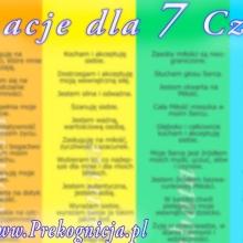 Afirmacje 7 Czakr (Plakat, 2 wersje – dla kobiety i mężczyzny)